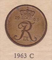 Denmark, 5 Øre, 1963 C.  Bronze - Danimarca