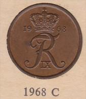 Denmark, 5 Øre, 1968 C.  Bronze - Danimarca