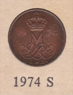 Denmark, 5 Øre, 1974 S.  Bronze - Danimarca