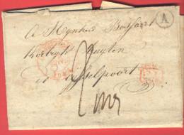 _5i-952: Complete Brief Van HEULE : Postbus: A ; COURTRAI 12 NOV. 1844 + CA > Kortrijk  Rijselpoort:  ... Wat Vuil... - 1830-1849 (Belgique Indépendante)