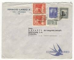 Kolumbien Brief nach Deutschland  1952