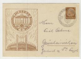 Deutsches Reich Ganzsache Zudruck Reichstreffen NSKOD Berlin 1937