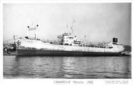 """¤¤  -  Carte-Photo Du Pétrolier  """"CAMARGUE """" En 1953   -   ¤¤ - Pétroliers"""