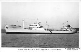 """¤¤  -  Carte-Photo Du Pétrolier  """" CHAMPAGNE """" En 1951   -   ¤¤ - Pétroliers"""