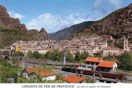 - CPSM  - 04 - CHEMINS DE FER DE PROVENCE - Le Train à Vapeur à ENTREVAUX - 650 - France