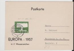 BRD242/NeuauflageEuropa Von 1957 MitWasserzeichen (Mi.Nr. 294) - 1957