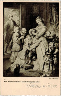 "Cartolina - Aus Werthers Leiden: ""Brotscheneidende Lotte"" - Mus�e du Louvre - Wilh. V. Kaulbach - 1958 - Viaggiata pe..."