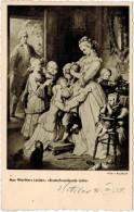 "Cartolina - Aus Werthers Leiden: ""Brotscheneidende Lotte"" - Musée Du Louvre - Wilh. V. Kaulbach - 1958 - Viaggiata Pe... - Pellicole Cinematografiche: 35mm-16mm-9,5+8+S8mm"