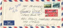 CINA - CHINA - CHINE - 1985 - Airmail - 3 Stamps - Viaggiata Da Tanggu Per London, England - 1949 - ... Repubblica Popolare