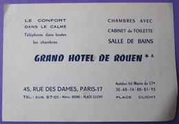 HOTEL AUBERGE RESIDENCE ROUEN DECAL PARIS FRANCE STICKER LUGGAGE LABEL ETIQUETA ETICHETTA ETIQUETTE AUFKLEBER - Hotel Labels