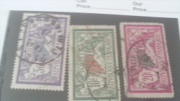 LOT 244832 TIMBRE DE FRANCE OBLITERE N�206 A 208 VALEUR 65 EUROS