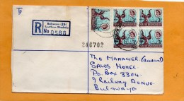 Bulawayo 24 Southern Rhodesia 1966 Registered Cover Mailed - Rhodesia (1964-1980)