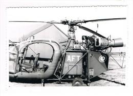 AVION  -  AVIATION  -  HELICOPTERE ALOUETTE II  SA  -  9 X 13 Cm. - Aviación