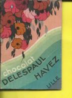 CALENDRIER 1934 CHOCOLAT DELESPAUL HAVEZ  LILLE - Kalenders