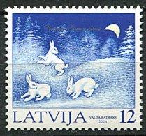 (cl 17 - P15)  Lettonie  ** N° 525 - Noël (lapins Dans La Neige)  - - Latvia