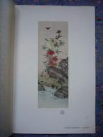 Belle Litho De Shunkei Fleurs Et Insectes Dimensions Page : 21 X 30 Cm - Art Asiatique