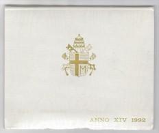 [NC] VATICANO -  GIOVANNI PAOLO II SERIE DIVISIONALE 1992 ANNO XIV - FDC UNC - Vaticano