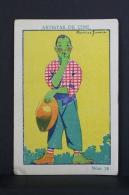 Old Trading Card/ Chromo Topic Cinema/ Movie - Spanish Chocolate Advertising - Actor: Charles Ray Caricature - Chocolate