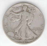 STATI UNITI HALF DOLLAR 1941 AG SILVER - 1916-1947: Liberty Walking (Libertà Che Cammina)