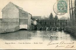 CPA 77 JOUY SUR MORIN USINE DES BOUTONS MOULIN VIDAL  1903 - Autres Communes