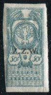 Eastern Poland ZZW 1919 Polish Occupation Ukraine Belorussia Belarus 50 Fen. Revenue Fiscal Tax Russia Civil War Z.Z.W. - Revenue Stamps