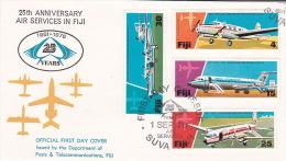Fiji 1976 25 Years Of Air Services In Fiji FDC - Fiji (1970-...)