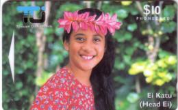 COOK ISLANDS JEUNE FILLE GIRL 10$ UT GPT N° 02CIC... - Cook Islands