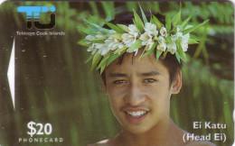 COOK ISLANDS JEUNE HOMME YOUNG MAN 20$ UT GPT N° 02CID... - Cook Islands