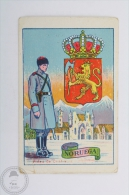 Old Trading Card/ Chromo, Military Uniforms, Coat Of Arms And National Buildings Of Norway - Other