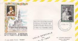 Vatican City 1967 Special Papal Flight To Fatima Souvenir Cover - Vatican