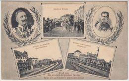 24521g  STATION HERBESTHAL - STATION WELKENRAEDT - NEUTRALE STRASE - FRONTIERE ALLEMANDE BELGE - 1913 - Lontzen