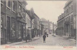 """24603g RUE EUDORE PIRMEZ - """"CHANGE"""" - """"A. BERTRAN"""" - CHARRETTE - Châtelineau - 1910 - Châtelet"""