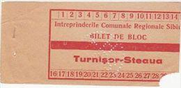 12279- BUSS TRANSPORTATION TICKET, PERFORATED, ROMANIA - Bus