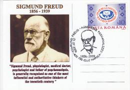 12416- SIGMUND FREUD, PSYCHOANALYSIS, SPECIAL POSTCARD, 2006, ROMANIA - Célébrités