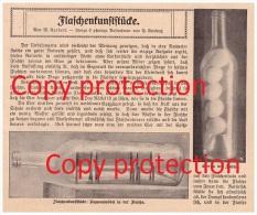 Original Zeitungsbericht - 1911 - Flaschen-Kunst , Flaschenkunst , Flasche , Glas , Kunst !!! - Glas & Kristall