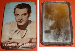 Rare Petit Miroir De Poche Ancien Glaçoïde Georges GUETARY Chanteur - Non Classés