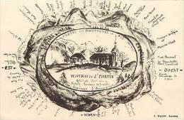 Ref D928- Haute Savoie - Belvedere De St Martin - Environs D Annecy -hotels -pensions De Famille   -carte Bon Etat  - - Francia