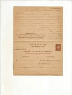 Carte Postale De Service ,acte De Naissance Avec Reponse (petain) Ref Storch D10b Et Yvert 515-cprp3 - Cartoline Postali E Su Commissione Privata TSC (ante 1995)
