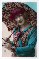 Jolie Jeune Fille, Femme Et Parapluie, Ombrelle, 1915, éd. CB N° 1058, Chapeau, Robe, Mode - Women