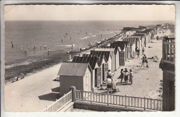 BERNIERES SUR MER 14 - La Plage - CPSM Dentelée Noir Et Blanc PF 1960 - Calvados - Autres Communes