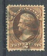 ETATS-UNIS  (POSTE)  :   Y&T  N°  40   2c   BRUN  TIMBRE  OBLITERE  AVEC CHARNIERE   ,  A VOIR . - Used Stamps
