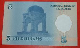 ★PALACE & SHRINE★TAJIKISTAN★ 5 DIRAM 1999! UNC CRISP! LOW START★ NO RESERVE! - Tadjikistan