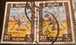 Sudan 1991 Arab Postman £20 X2 - Used - Soudan (1954-...)