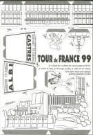 SPORT CYCLISME VELO TOUR DE FRANCE  1999  ETAPE ALBI CASTRES  ILLUSTRATEUR CHRISTIAN CHABERT - Ciclismo