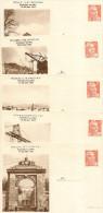Entier Serie De 5 ,12  Francs Gandon Foire Exposition Rochefort Sur Mer 1951 Ref Storch L3s Complet Neuf Superbe - Ganzsachen