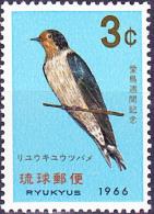 Ryu-Kyu-Inseln  - Schwalbe/swallow/avaler (MiNr: 172) 1966 - Postfr. MNH - Ryukyu Islands