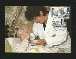 BRD 1988  Mi.Nr. 1394 , 100 Jahre Arbeiter-Samariter-Bund - Maximum Karte -10.11.1988 - - Maximumkarten (MC)