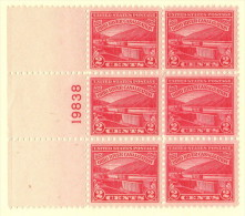 USA SC #681 MNH PB6 1929 Ohio River W/lt. Crimp In CL Selv. #19838, CV $24.00 - Plate Blocks & Sheetlets
