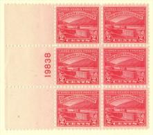 USA SC #681 MNH PB6 1929 Ohio River W/lt. Crimp In CL Selv. #19838, CV $20.00 - Plate Blocks & Sheetlets