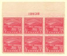 USA SC #681 MNH PB6 1929 Ohio River W/perf Flts @ LR Of UR Stamp (scuffs ?) #19838, CV $24.00 - Plate Blocks & Sheetlets